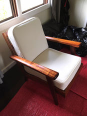 Mid Century Modern Hawaiian Koa chairs