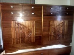 """SOLD"" African Mahogany Dresser"