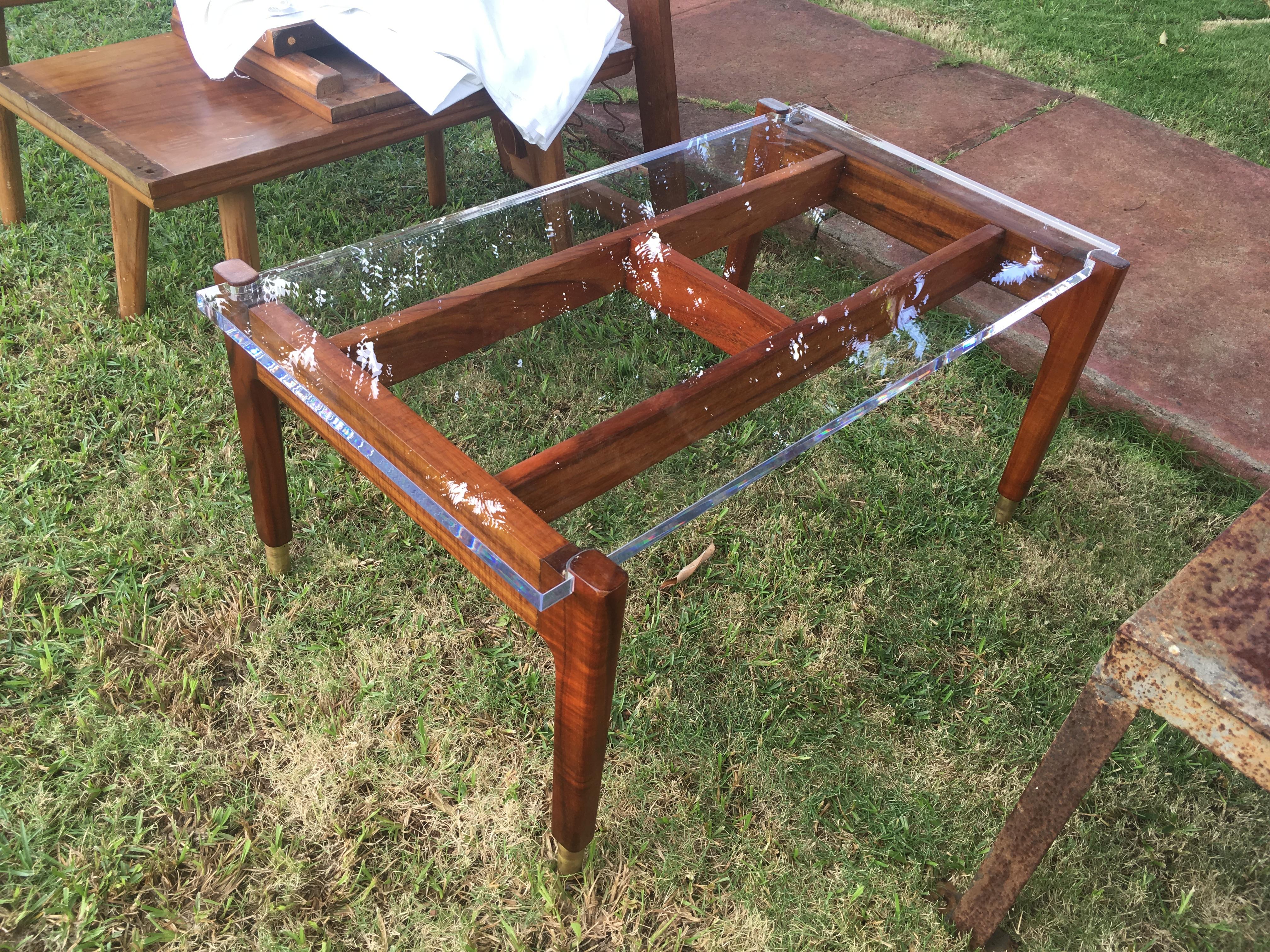 Mid Century Mod Koa coffee table