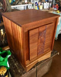 Vintage 1950s 2 drawer side table