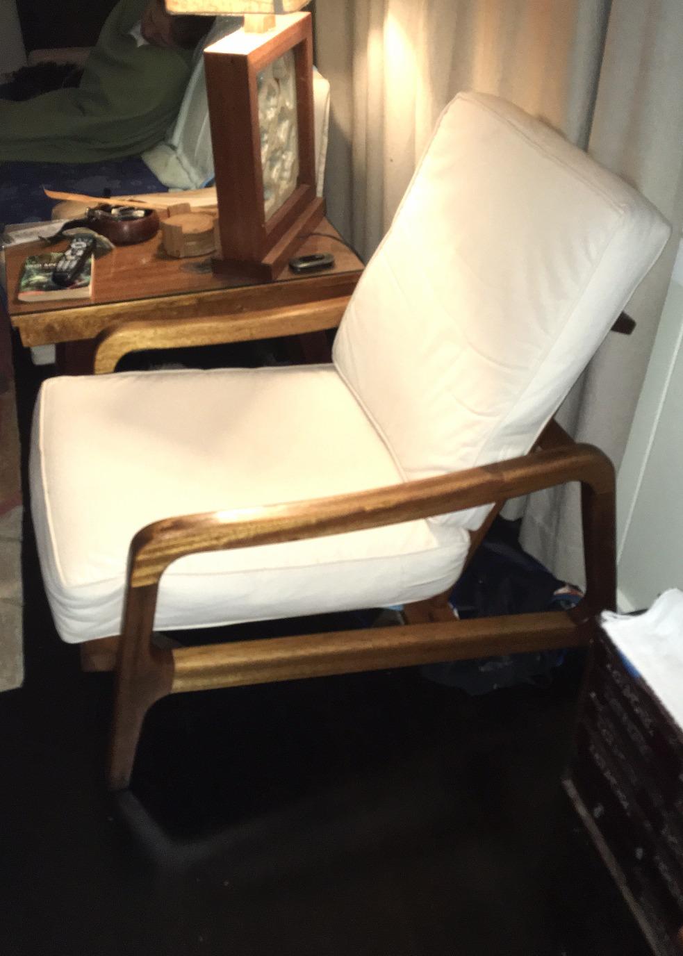 1950's Mid Century Mahogany Chair