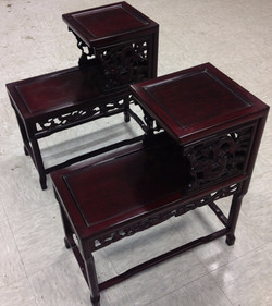 SOLD Chinese Rosewood End Tables