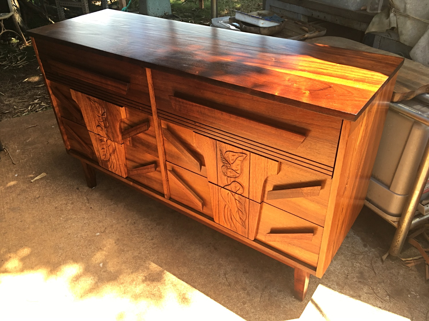 SOLD  1950's Hawaiian Koa Dresser