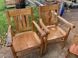 SOLD - 1880 Koa Captain chairs