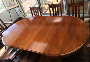 1890 Old Growth Hawaiian Koa Dining room table