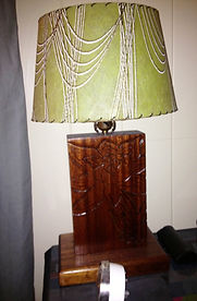 1960'S CARVED AFRICAN MAHOGANY LAMP