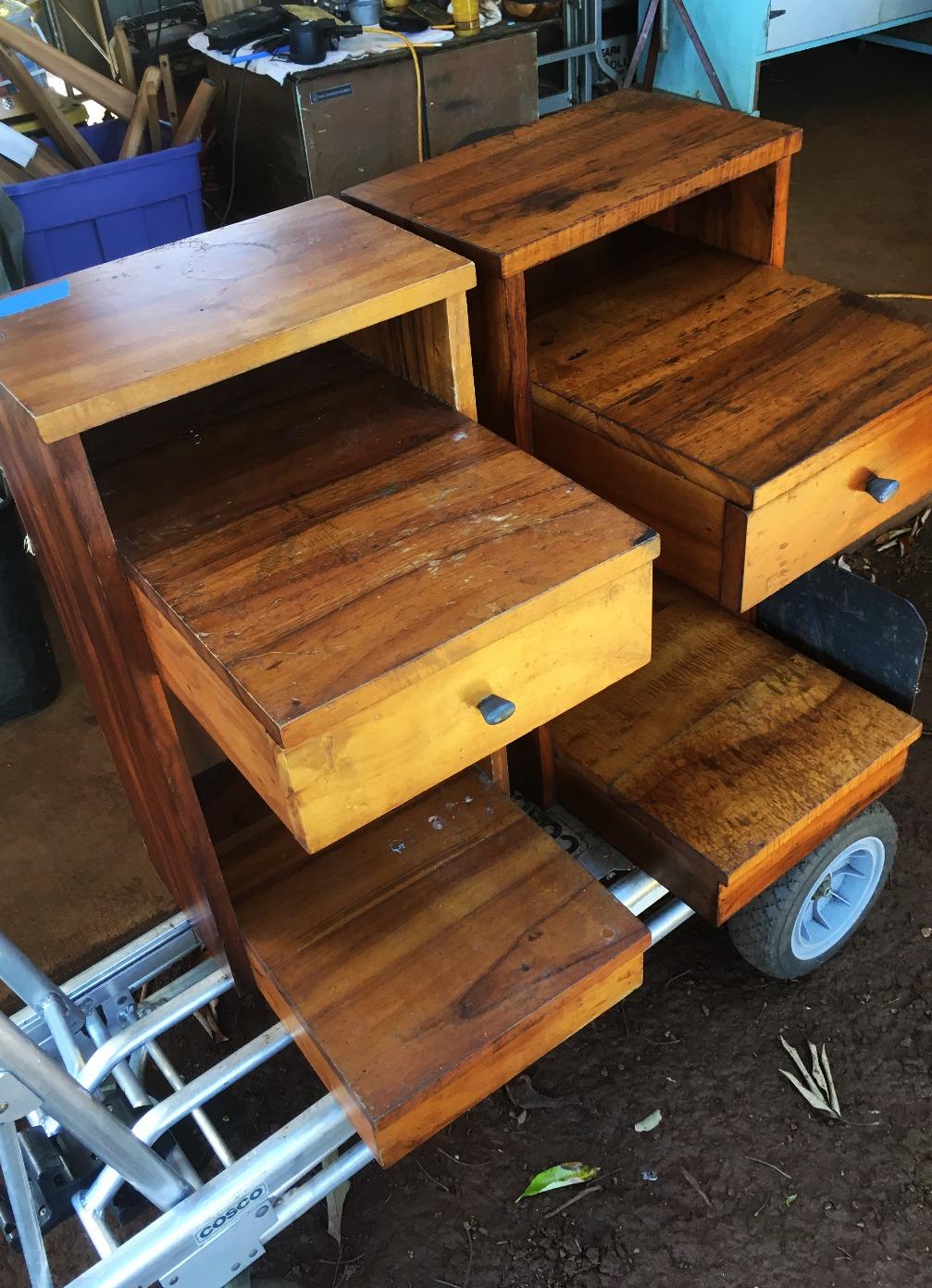 Late 1940's Koa End Tables