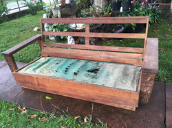 SOLD 1940's Hawaiian Koa couch