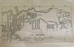 Vintage 1940s Map of Wahiawa