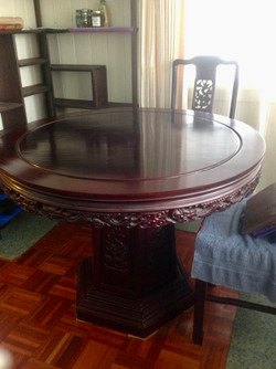 Hand Carved Chinese Rosewood table