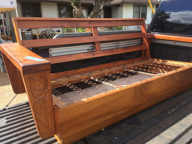 1930's Hawaiian Koa platform set - JUST IN