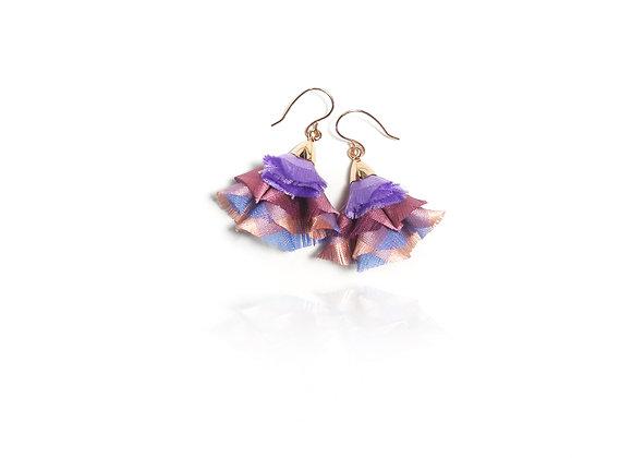 La Orr Blossom Bali Earrings (lilac,pink)