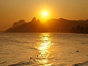 Por do sol em Ipanema