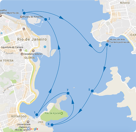 Passeio turistico de barco