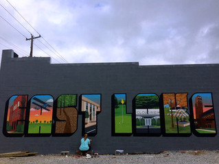 the east lake mural on 1st
