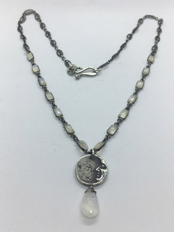 Man in the Moon with Moonstone