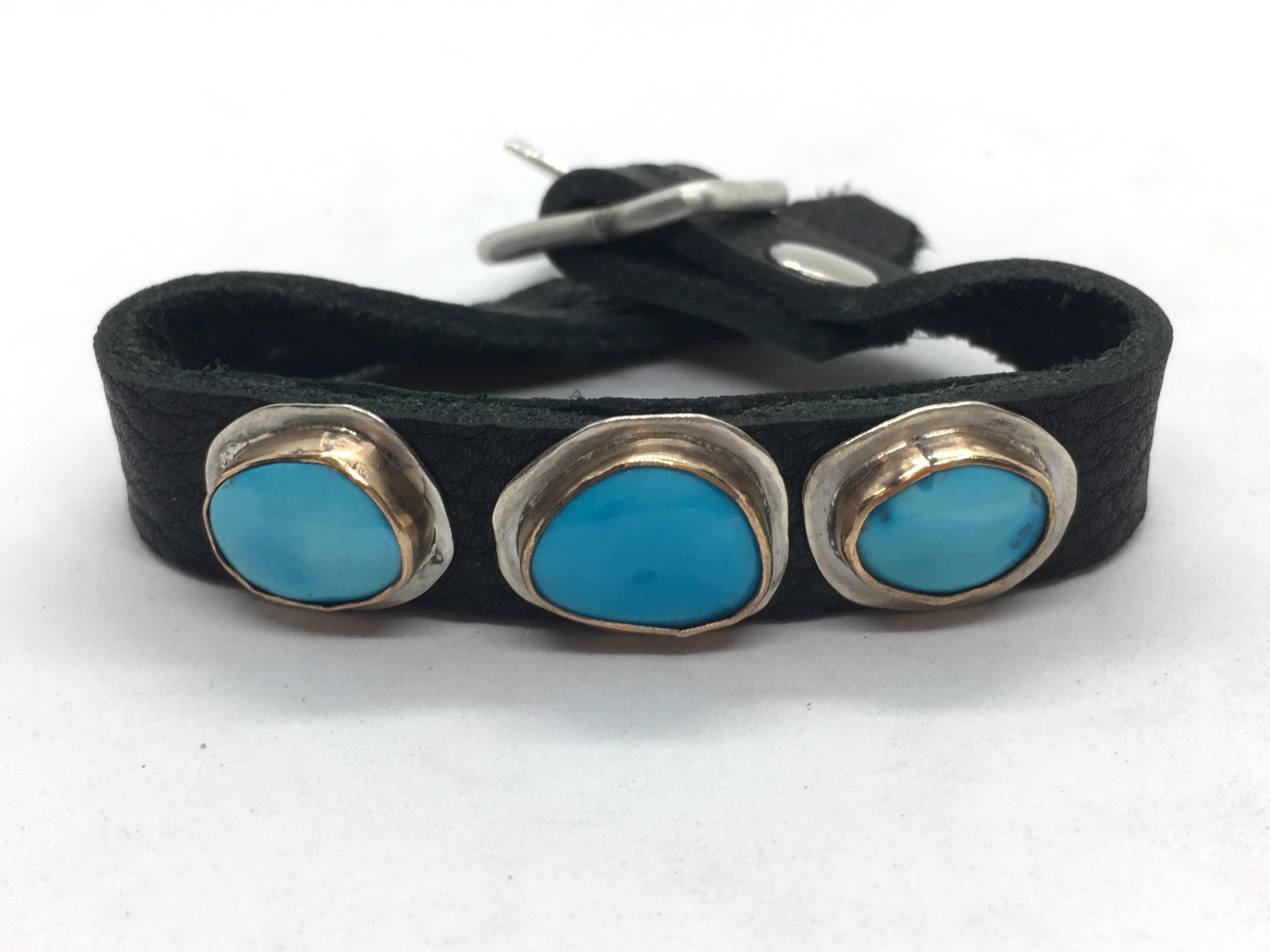 Triple Sleeping Beauty Buckle Bracelet