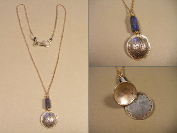 Iris Locket Necklace #b78