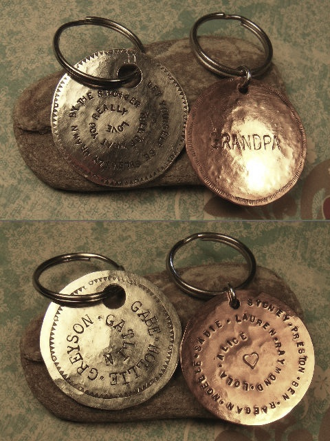 Silver or Copper Keychains