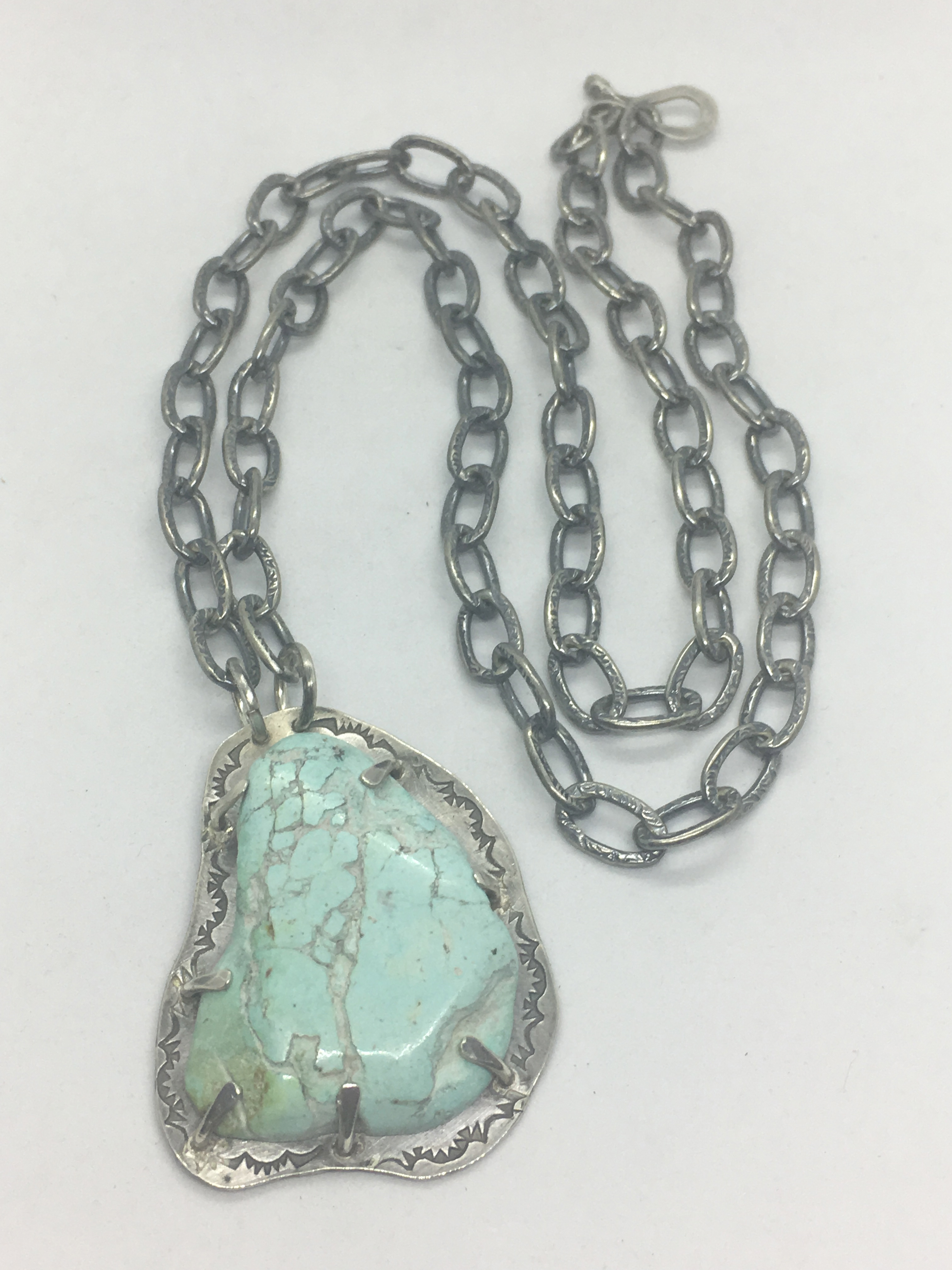 Powder Blue Turquoise Necklace