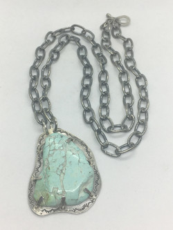 Powder Blue Turquoise Necklace