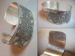 Etched Silver Cuff #12C