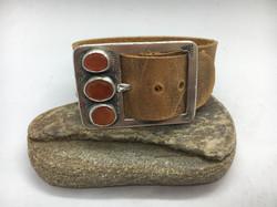 3 Carnelian Buckle Bracelet