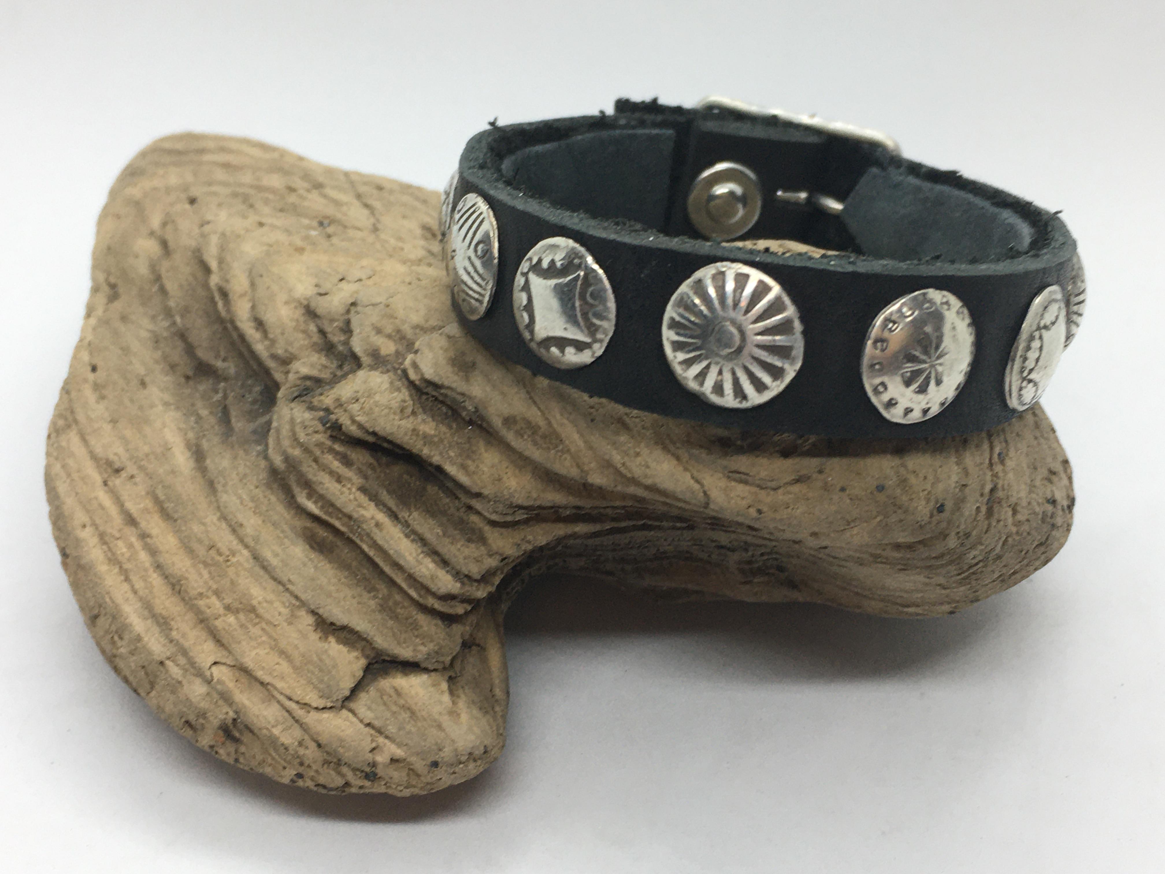 Fine Silver Concho Buckle Bracelet
