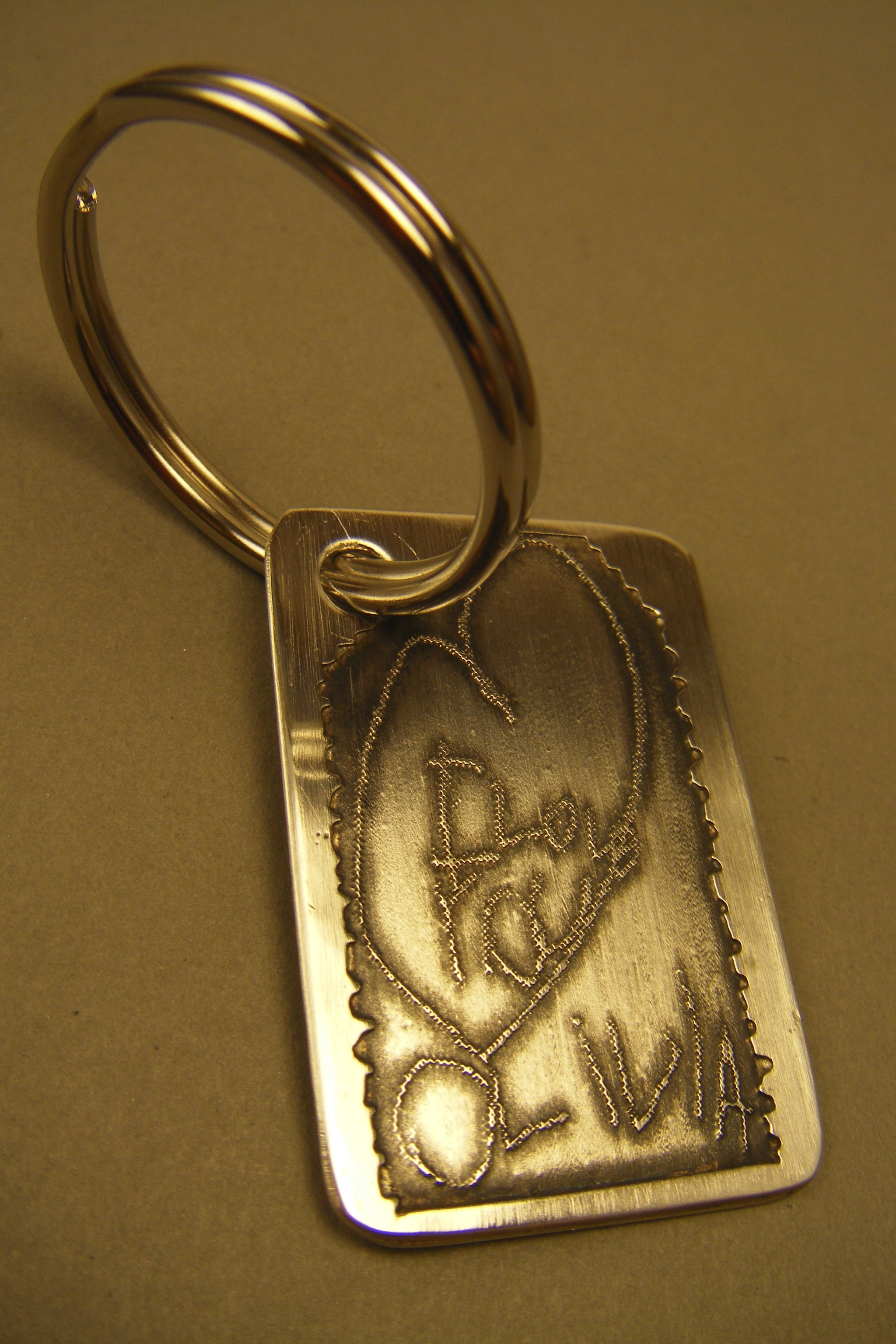Etched Key Chain
