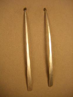 23EL - Matte Silver Earring