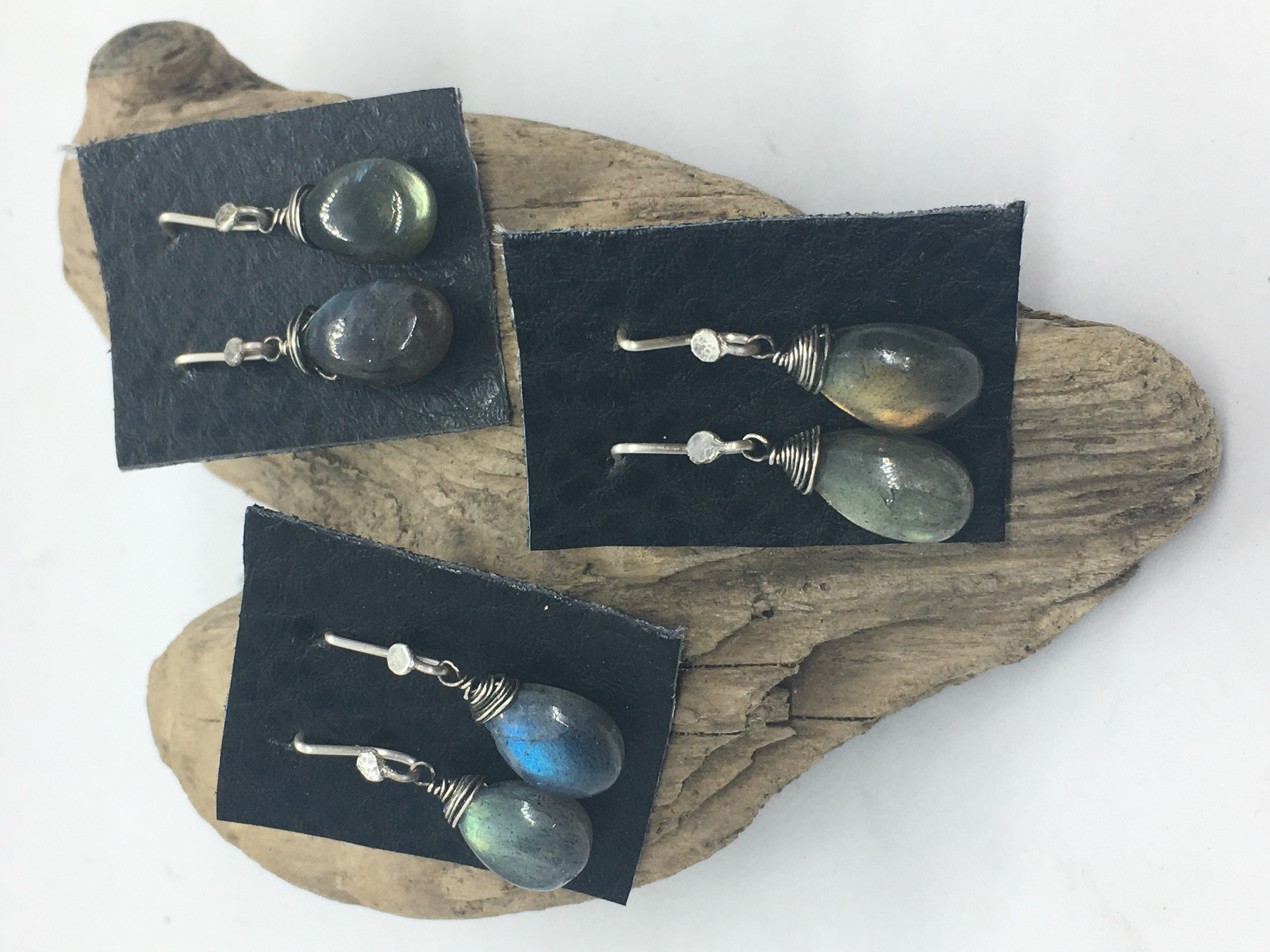 Hand-wired Labradorite Briolette Ear