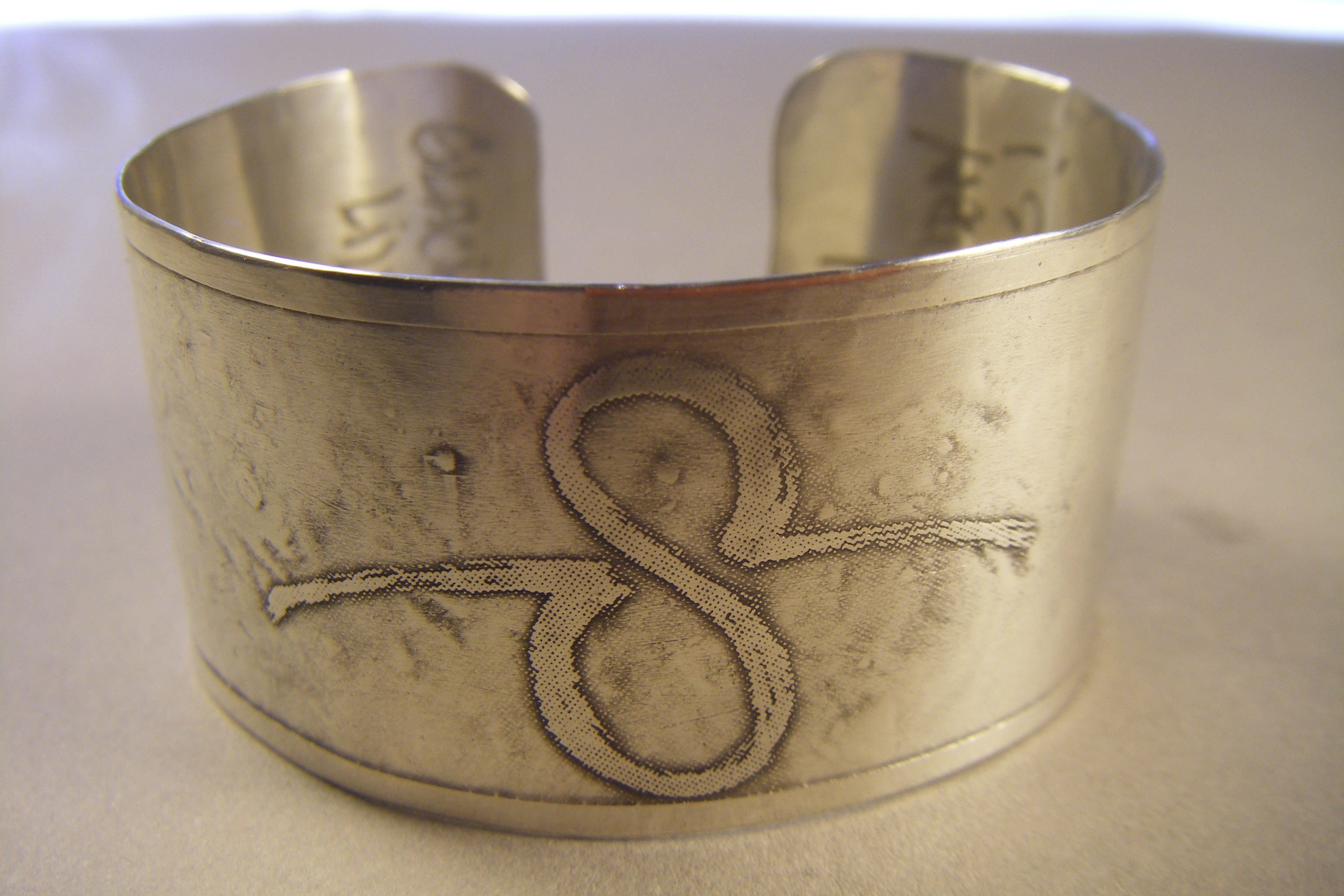 Etched Silver Cuff