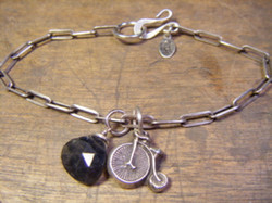 Penny Farthing Bicycle Bracelet