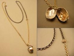 2-Tone Acorn Necklace