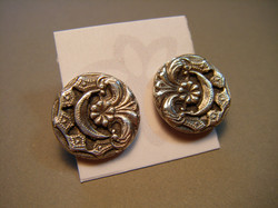 Small Filigree Moon Earrings