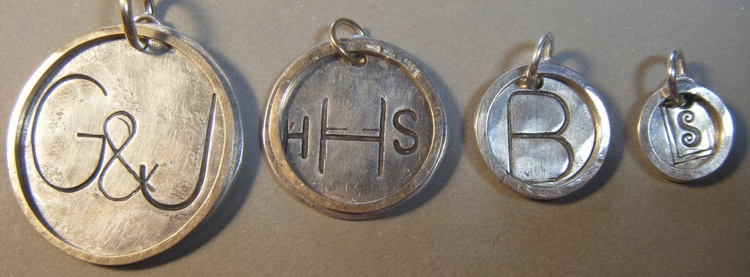 Silver Disc Pendants