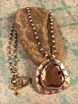 Brown Sapphire Necklace