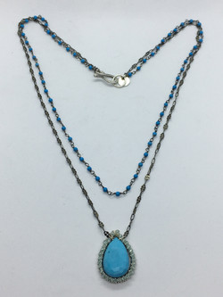 Stone-wired Turquoise Necklace