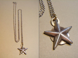 Fine Silver Star Necklace