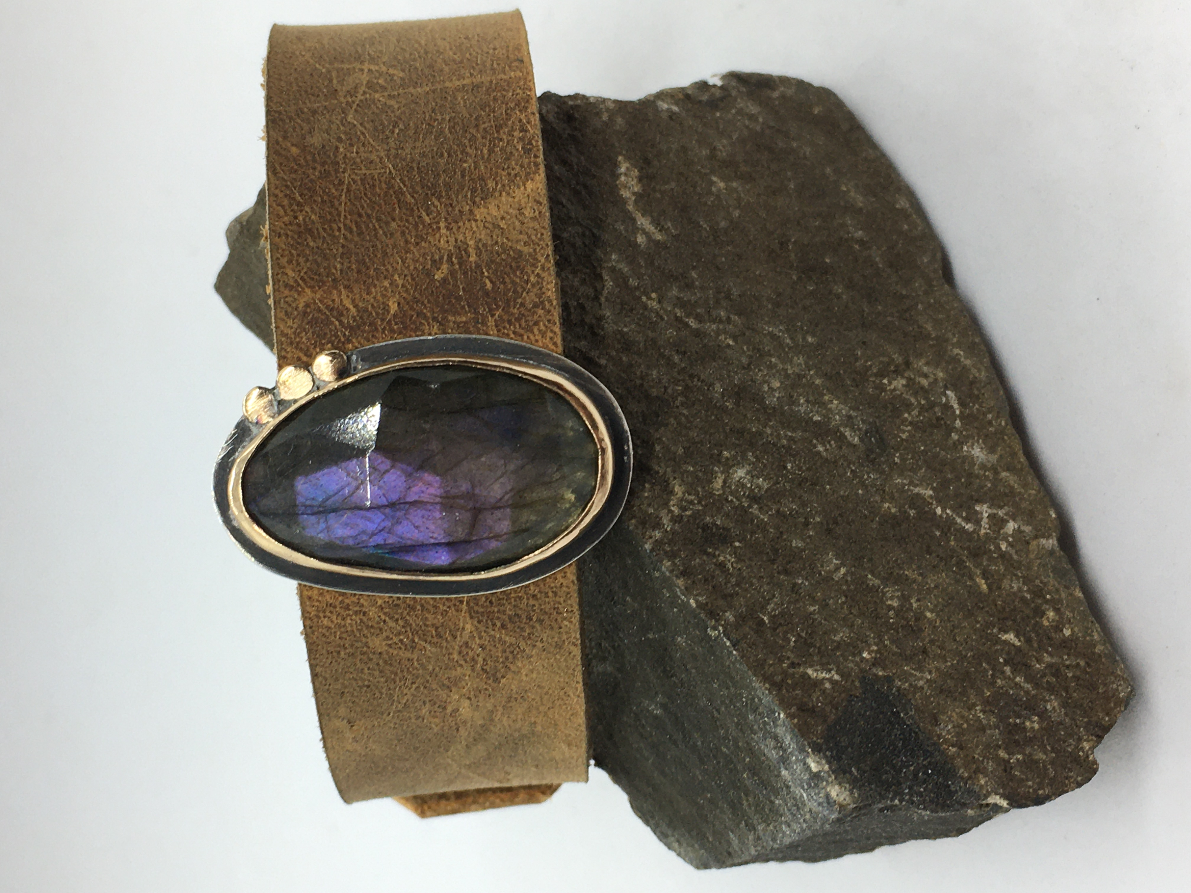 Purple Labradorite Buckle Bracelet