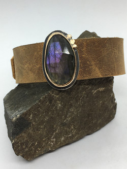 Purple Labradorite Buckle Bracelet