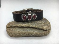 Triple Ruby Buckle Bracelet