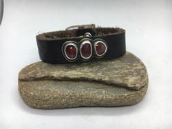 Triple Ruby Buckle Bracelet