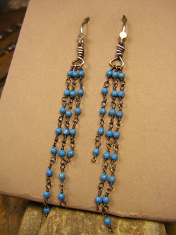 #61E Rosary Chain Earrings