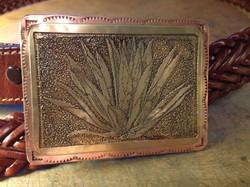 Etched Brass & Copper Belt Bucklet