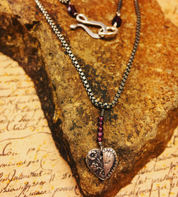 Floral Heart Necklace