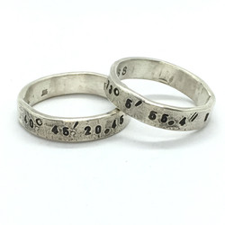 5mm Silver Coordinates Bands