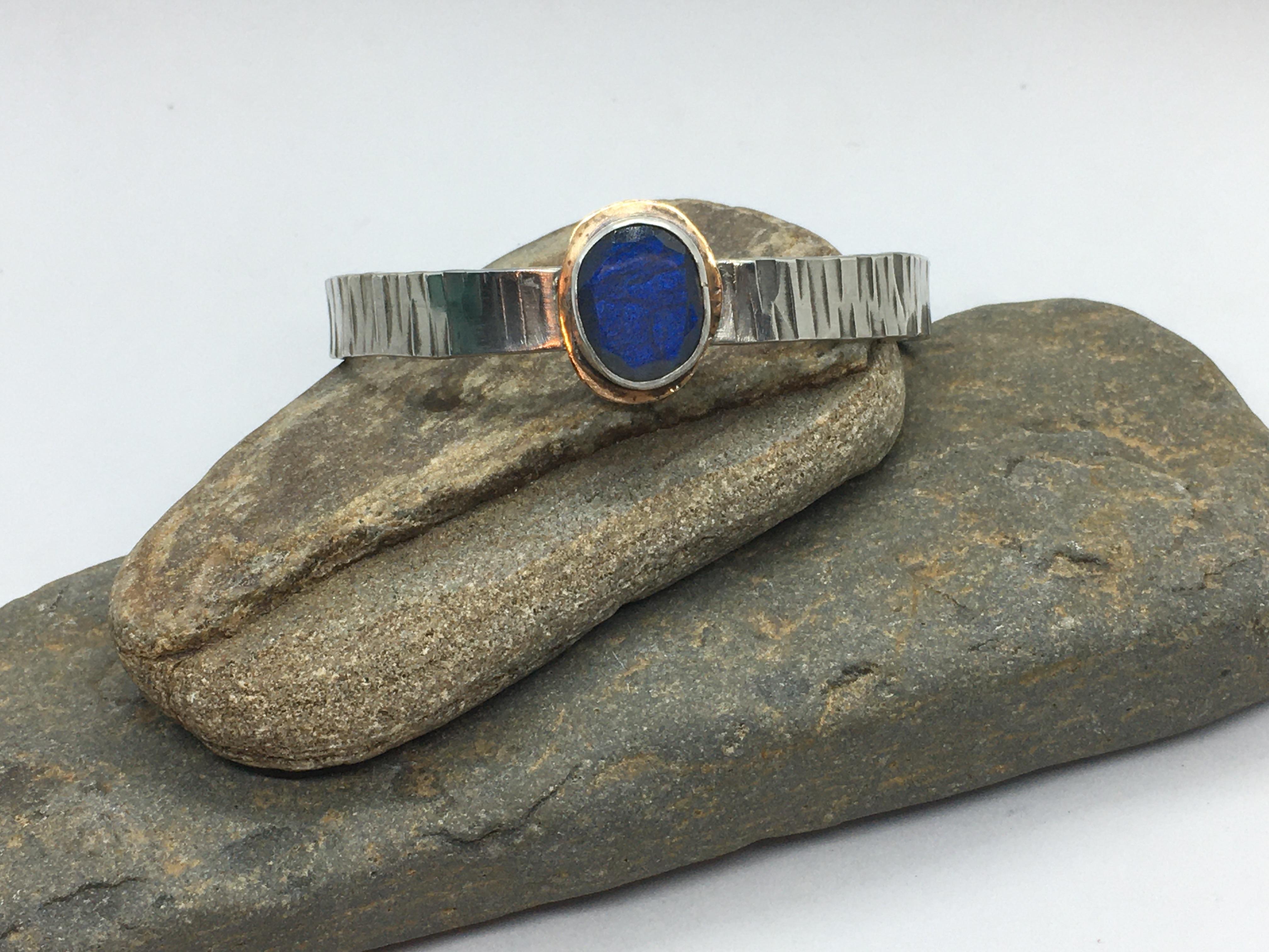 Labradorite Stone Cuff