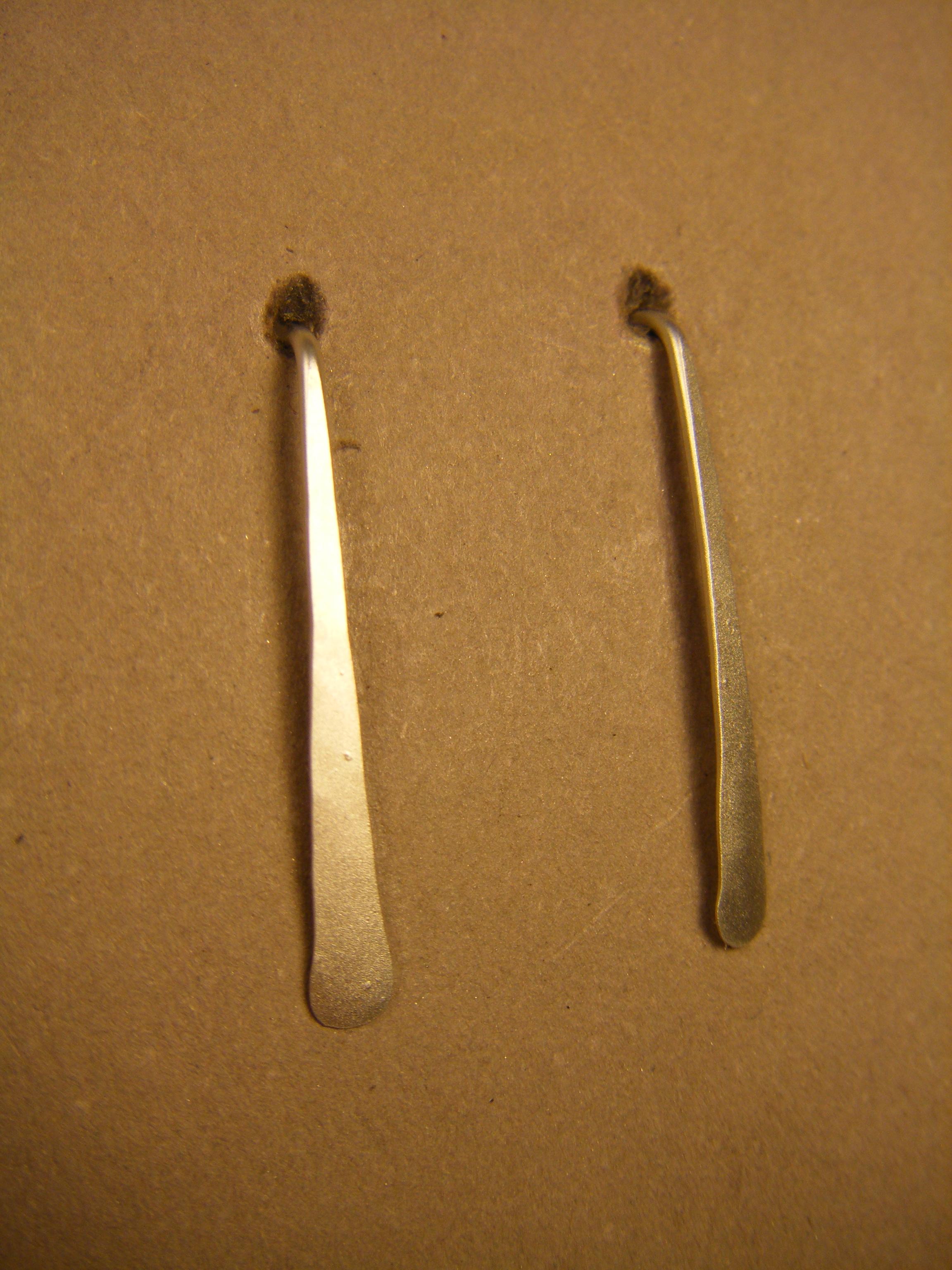 23ES Matte Silver Earring