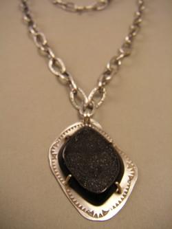 Black Drusy Necklace